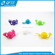 High quality Halloween gifts colorful mini soft Monster TPR Finger Puppet toy for capsule vending machine