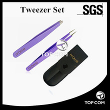 Sofeel Stainless Steel Precision 2pcs Eyebrow Tweezer Set for Hair Removal