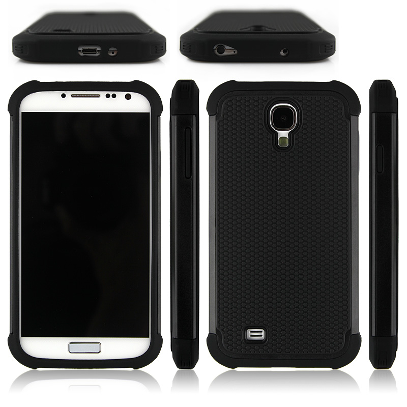 TPU PC 2in1 COMBO HYBRID HARD SOFT ARMOR BACK COVER FOR SAMSUNG GALAXY S3 S4 S5 MINI NOTE 3 4 5 EDGE CASE