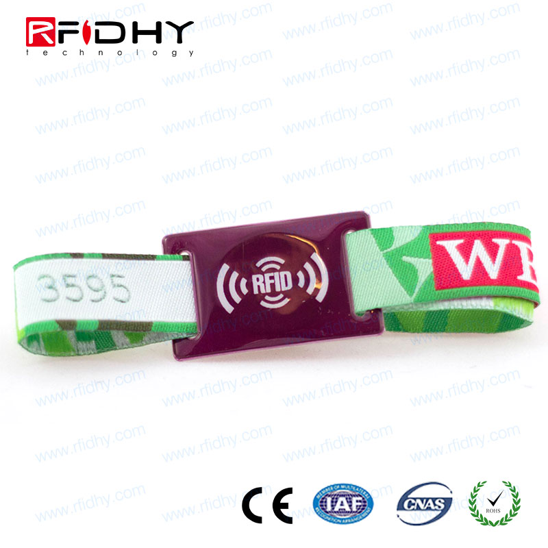 High frequency 13.56mhz ISO14443A NTAG213 festival woven NFC wristband