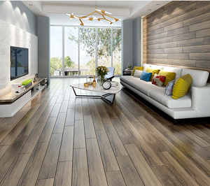 Non-slip Wood Look Porcelain Tile Floor Wooden Design Tiles In Foshan