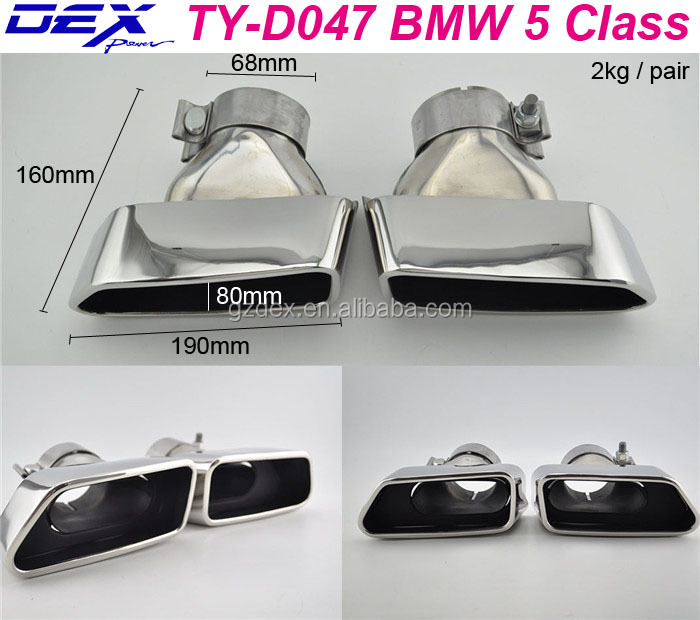Racing car spare exhaust muffler tips for B-MW 5 Class exhaust system