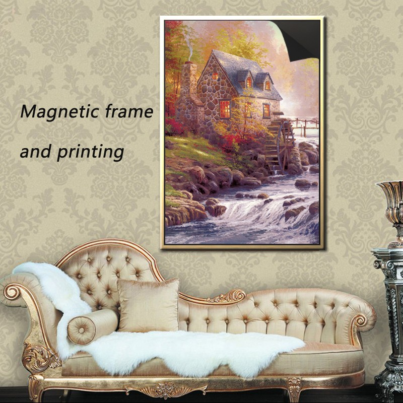 decor wall picture magnetic poster frame &print magnetic painting with thomas kinkaides 1013-190