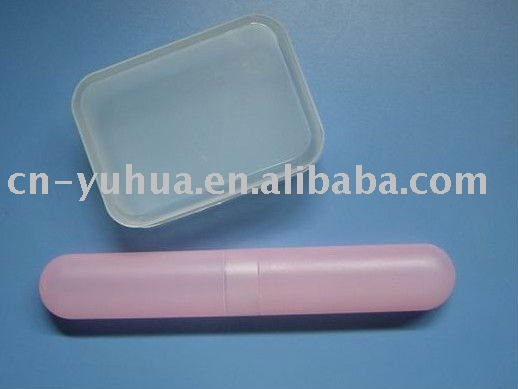 plastic travel set ST-15 of soap and toothbrush holder