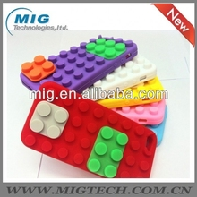 Building Block silicone phone case for iphone 5 5s, for iphone 5 case phone accessory 12 colors optional