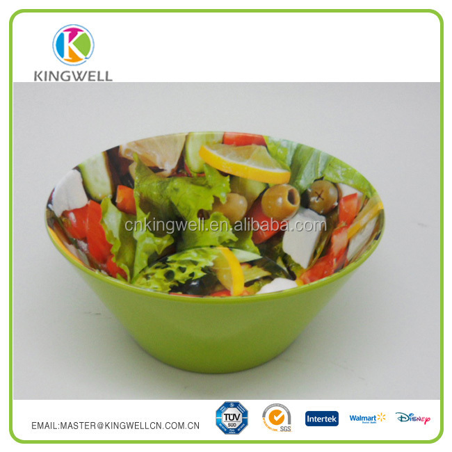 10 Inch Reusable plastic melamine salad bowl
