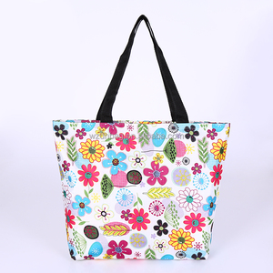 181fbb941ad Custom Wholesale Polyester Lady Floral Fashion Promotional Shopping Tote  Foldable Bag