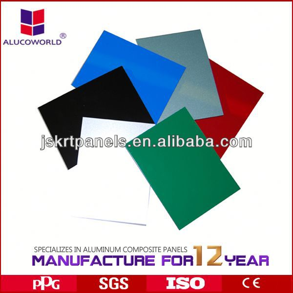 Alucoworld green abs honeycomb panels aluminum composite sheet building construction materials