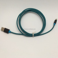 HIGH QUALITY OEM 2.1A braided nylon 1m 2m micro USB Data Charging Cable for android phone