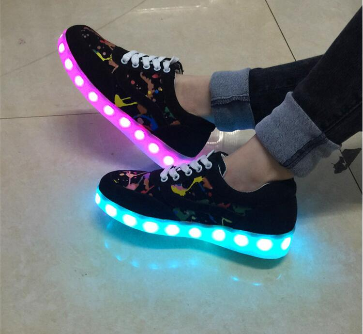 new unise luminous shoes men & women fashion USB rechargeable light up casual shoes led shoes taobao 1688 agent