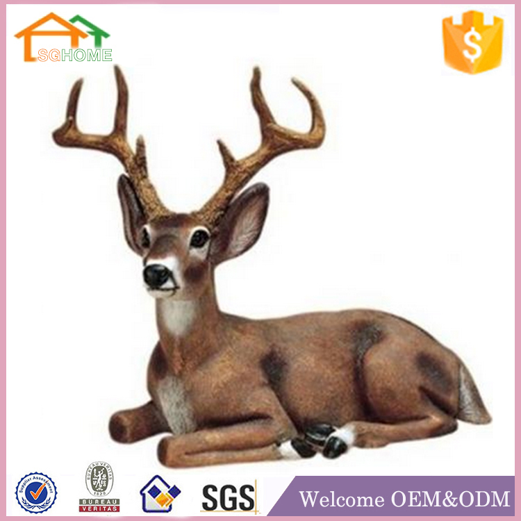 Factory Custom made home deer figure decoration polyresin garden decoration statues