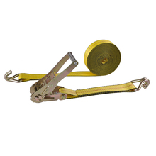 "2"" X 27' Sling and ratchet lashing wheel tie down ratchet strap with double J hook"