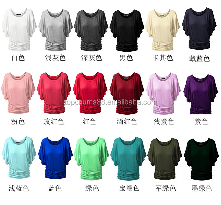 Cheap White/black/Rose red casual plain coton <strong>t</strong> <strong>shirts</strong> in bulk women