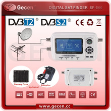 Digital satellite finder meter hd sat finder combo dvb T2 & S2 SF-560