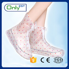 China factory Custom PVC rain Boot lady rain cover reusable overshoes