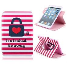 For Apple iPad mini 1/2 Phone Case Beautiful Cute Print Cover Stand PU Leather Phone Bag Magnetic Smart Shell Case Wallet
