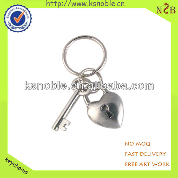 custom sweet heart 3d metal alloy personalized keychain