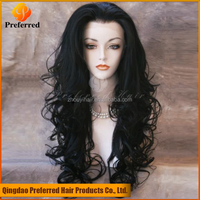 Lace front human hair wigs for black women loose curl india sexy fashion long hair