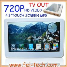 "4.3"" touch screen mp5"