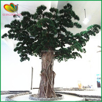 wholesale china factory evergreen indoor & outdoor artificial potted pine tree