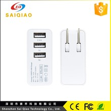 high quality mobile phone outside accessories 3 usb port UK plug wall charger