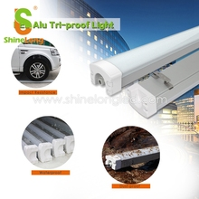 Quality assurance 4ft linear fixture IP65 waterproof Tri-proof led tube light