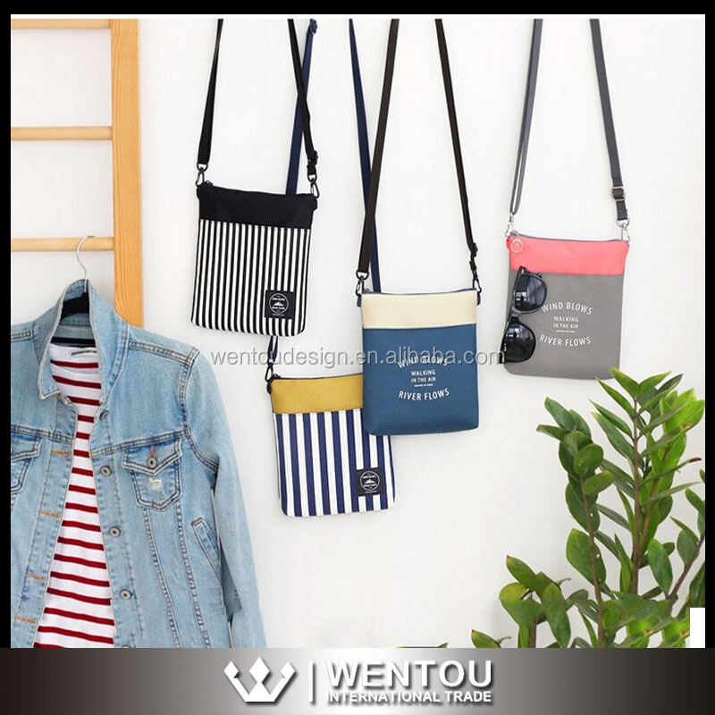 Fashion Striped Small Cross Body Bag
