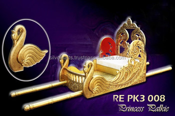 Brass Art Worked Wedding Doli Palki Sahib (Wedding palki and doli decorations for indian wedding)