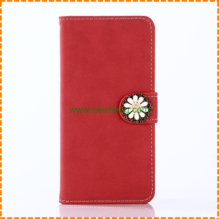 Daisy Flower leather Wallet Stand Smart phone case for iphone7 7plus