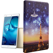Newest Retro Butterfly Universal pu leather smart tablet pc cover For Huawei MediaPad M3 8.4inch