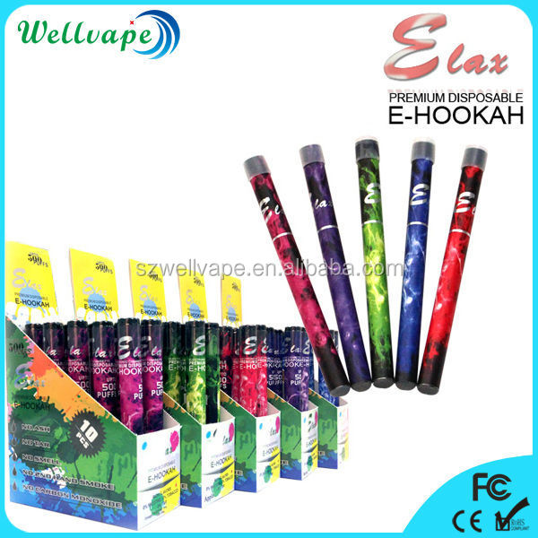 2015 best selling disposable e cigarette 500 puffs pencil hookah
