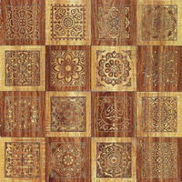China flower decorative rustic tile 600x600 wood pattern ceramic tile