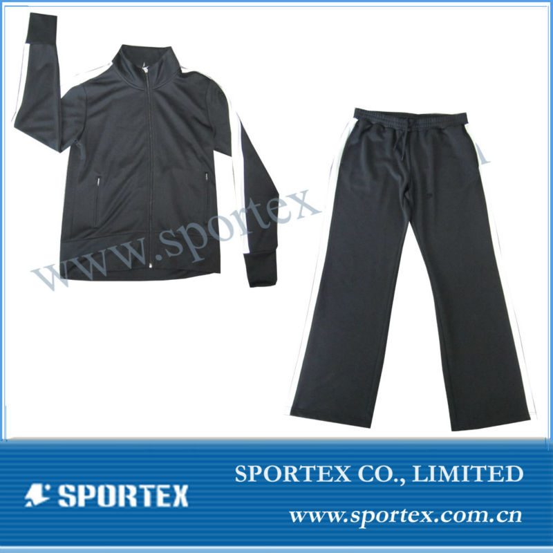 ladies long jogging wear/joggng suit/tracksuit