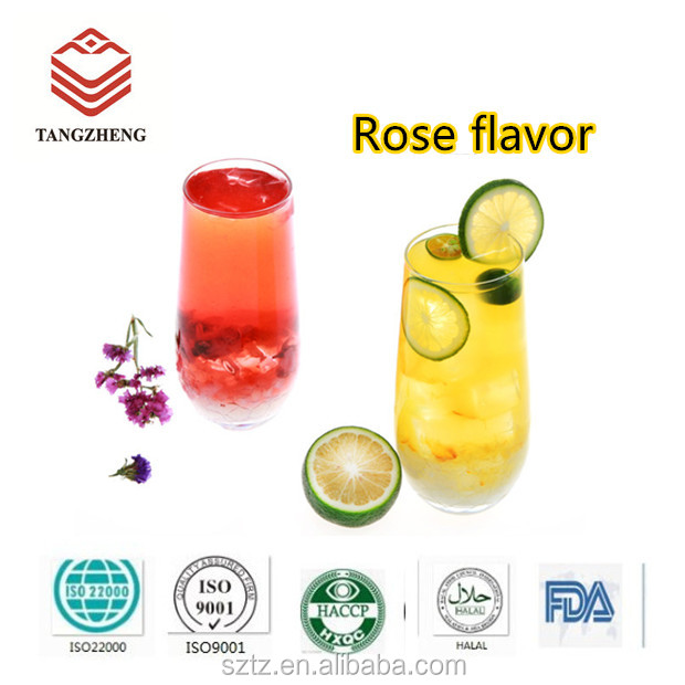 China Food Additives Factory Water-Solubility Alcohol Base Rose Essence / Rose Flavor