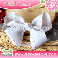 KId Hair Accessory of Hair Ties with Grosgrain Ribbon Bow Ponytail Hair Holder
