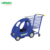 So funny plastic supermarket mini kids shopping trolley with toy car