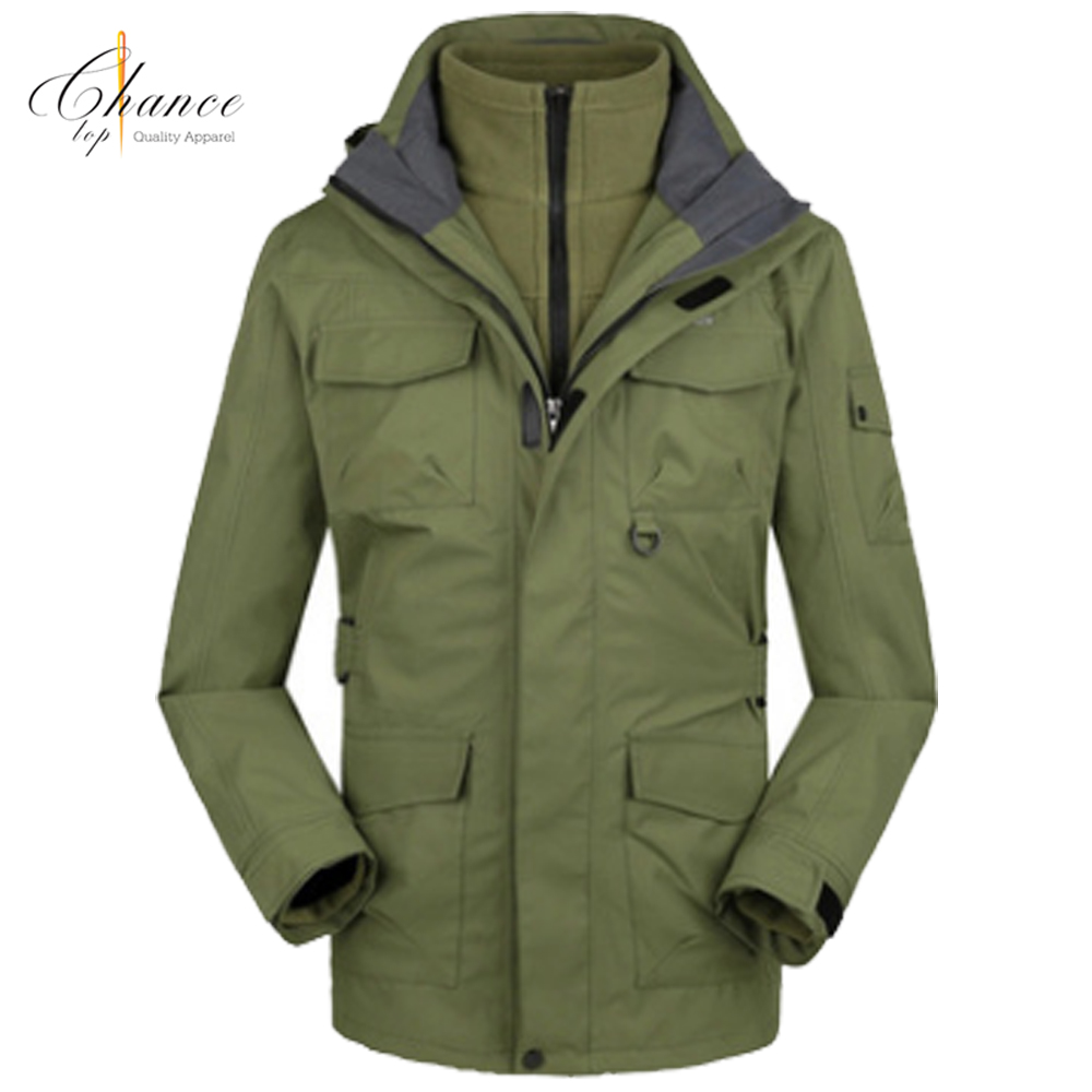 J-1709K04 breathable anti-soil wearable jackets LOGO custom men waterproof winter jacket