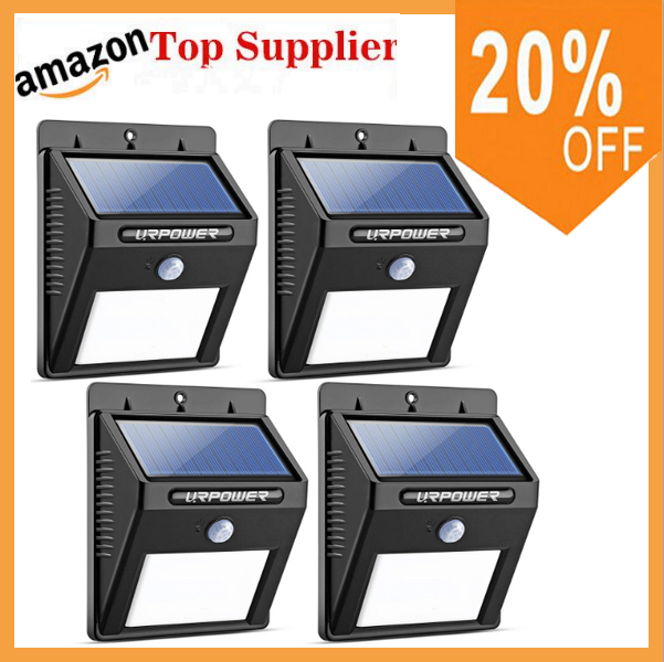 Amazon Top supplier !Solar Power Supply and LED lam Lighting Motion Sensor Wall Step Fence Lamps Solar Garden Lights