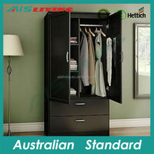 foshan furniture modern cheap steel wardrobe design metal clothes closet 2015 hot new product