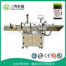 automatic tumbling type vertical round bottle labeling machine for bottles