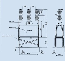 11 kV PORCELAIN CLAD VACUUM CIRCUIT BREAKERS (OUTDOOR)