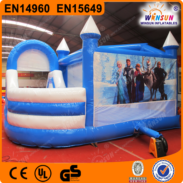 frozen inflatable bouncer for sale, frozen bounce house with slide
