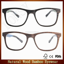 Hot sell color stratified wood glasses,laminated wooden eye wear frames with acetate temples LS2917