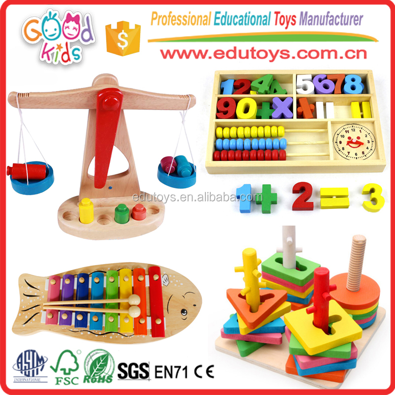 EN71 Conforms Wooden Baby Toys, 2016 Hot Sale Colorful Wood Kids Toys, Child Safe Wooden Children Toys