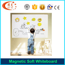 Flexible kids small magnetic soft whiteboard size with glue
