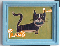 Small picture frame mini picture frame cat OM031