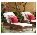 Sigma new arrival PE rattan furniture outdoor lounge chairs resin sun lounger