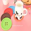 OEM design heat resistent silicone coffee cup mat rubber tea cup mat pad table decoration cup coster