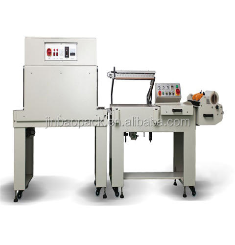 BTL-450+BM-500 semi auto l bar shrink package machine