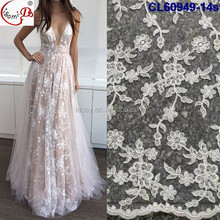 2017 Gorgeous White Wedding Lace Fabric Bridal French Tulle Lace Fabric For Wedding Dress Bridal Gown CL60949